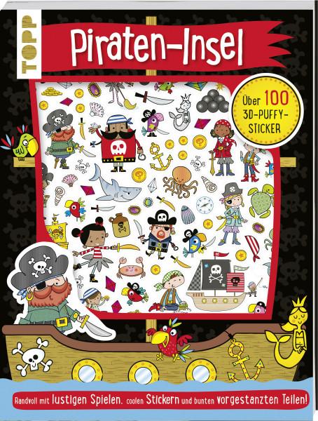 3D-Sticker- und Rätselbuch: Piraten-Insel