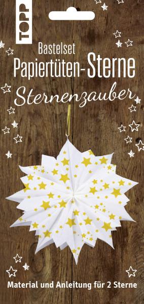 Papiertütensterne Bastelset Sternenzauber