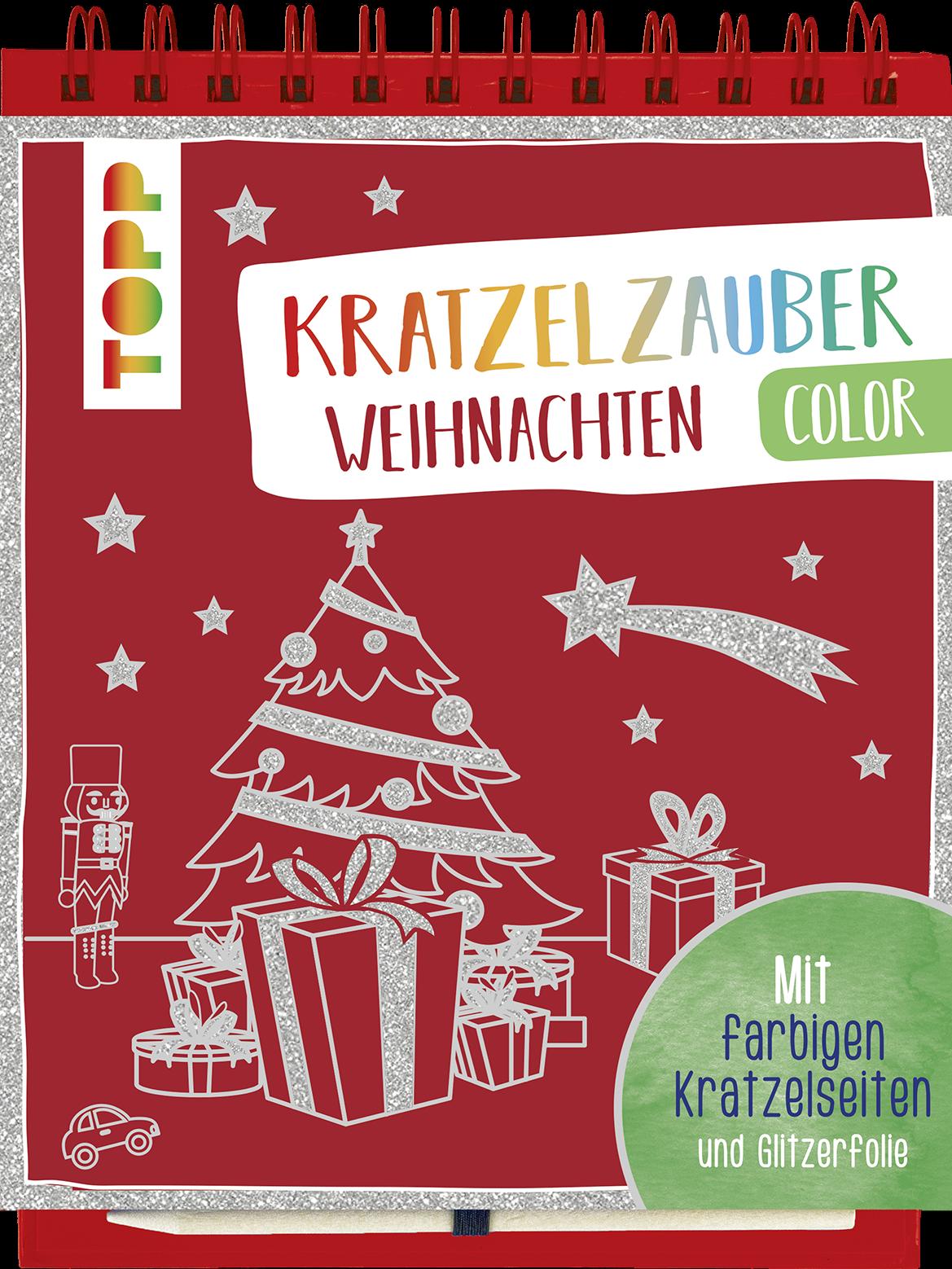 Kratzelzauber Color Weihnachten | Mitmachbuch für Kids von TOPP