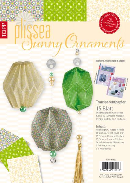 Plissea Transparentpapier Sunny Ornaments