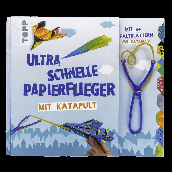 Ultra schnelle Papierflieger mit Katapult
