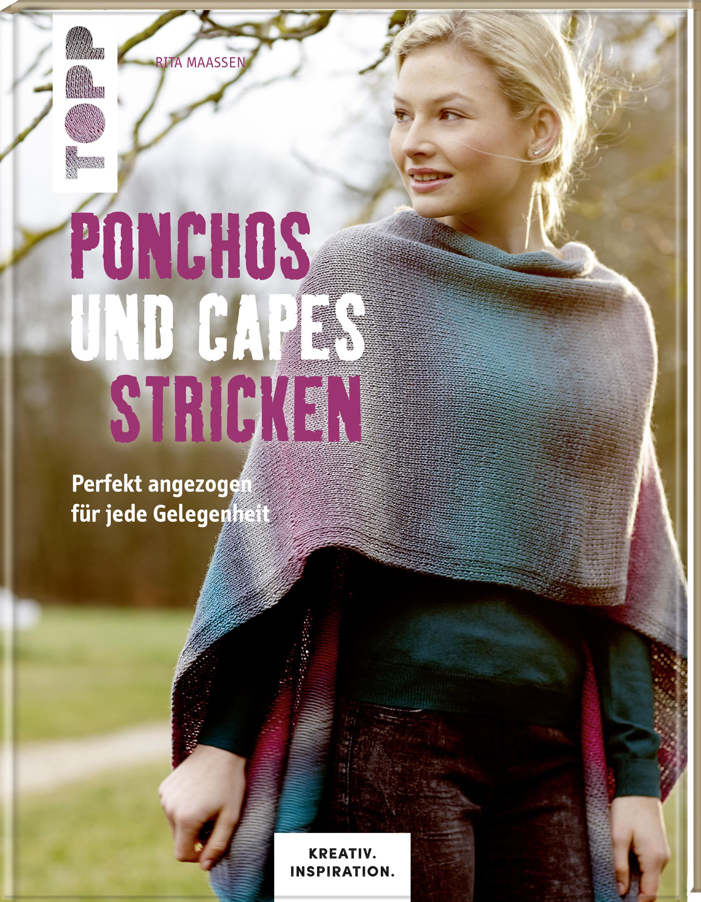 Ponchos Und Capes Stricken Ponchocape Stricken Anleitung Von Topp