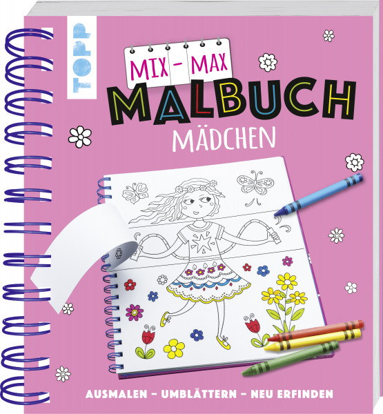 Mix-Max-Malbuch Mädchen