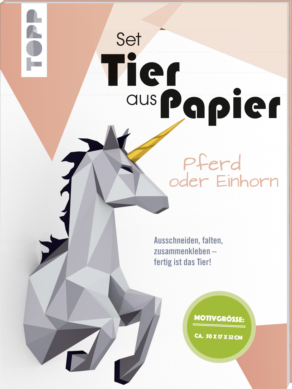 Tier Aus Papier Bastel Set Pferd Oder Einhorn Geschenke Unter