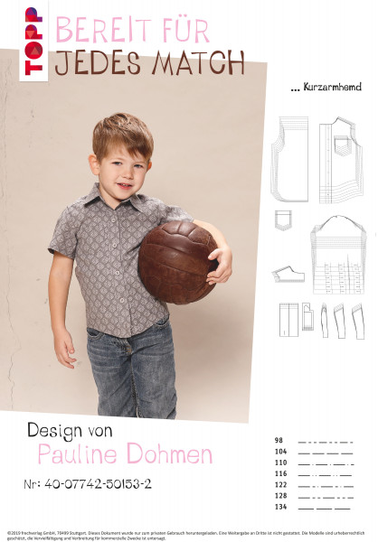 Kurzarmhemd und klassisches Langarmhemd (nur Schnittmuster, ohne Anleitung, für Fortgeschrittene/Exp