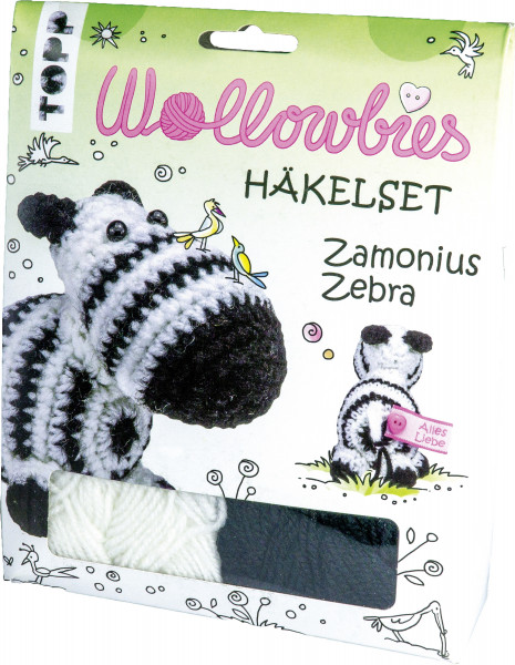 Wollowbies Häkelset Zamonius Zebra