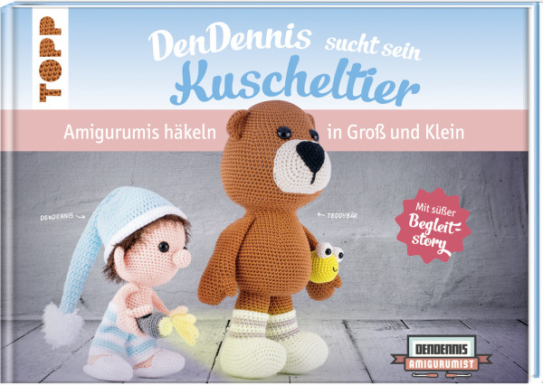 Teddybär Kuscheltier Kleine Amigurumi Häkeln Selbstgemachte