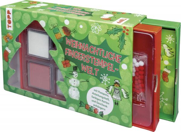 Weihnachtliche Fingerstempel-Welt (Set)