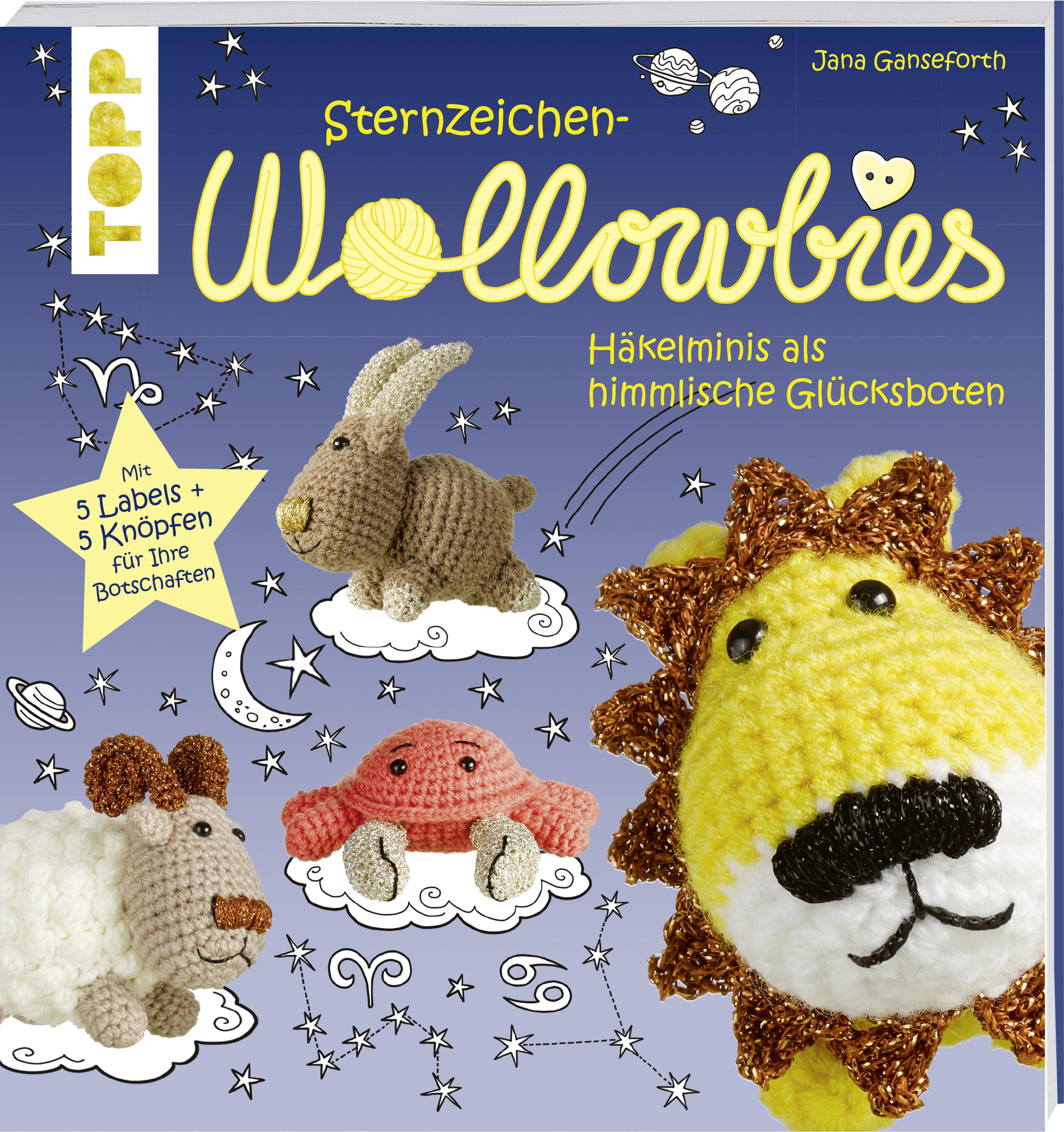 Sternzeichen Wollowbies Häkeln Löwe Affe Hase Häkeln