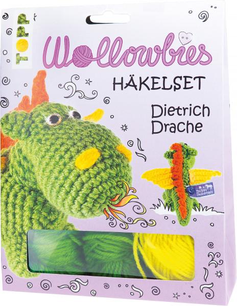 Fabelhafte Wollowbies Häkelset Dietrich Drache