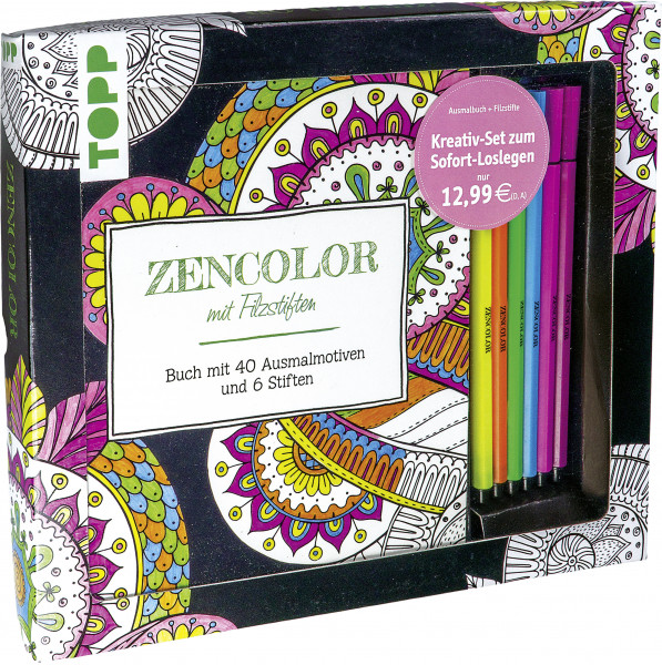 Kreativ-Set Zencolor mit Filzstiften