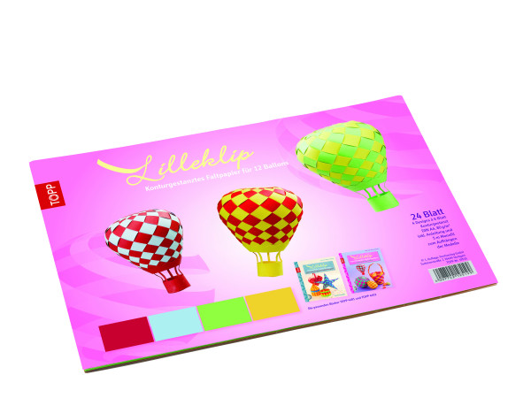 Lilleklip Konturgestanztes Faltpapier für 12 Ballons