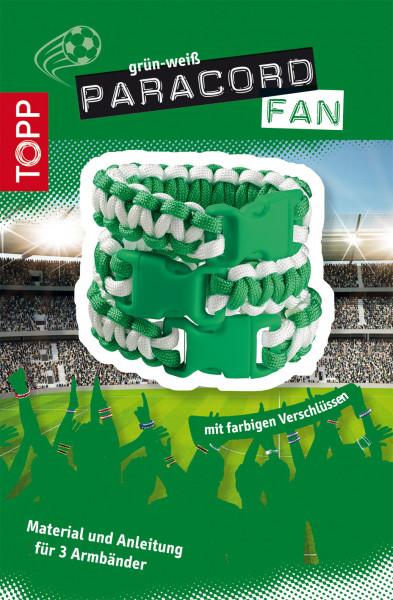 Paracord Fan Set grün-weiß