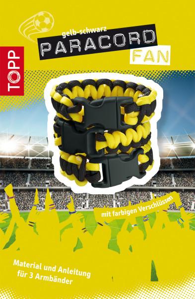 Paracord Fan Set schwarz-gelb