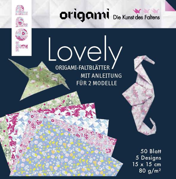Origami Faltblätter Lovely