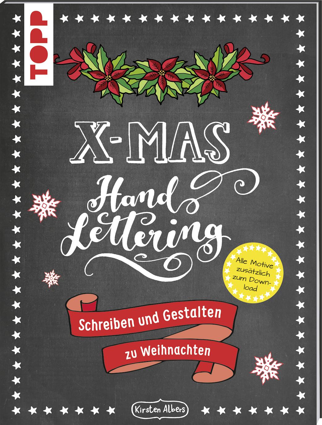 Handlettering X Mas Schreiben Und Gestalten Zu Weihnachten Buch