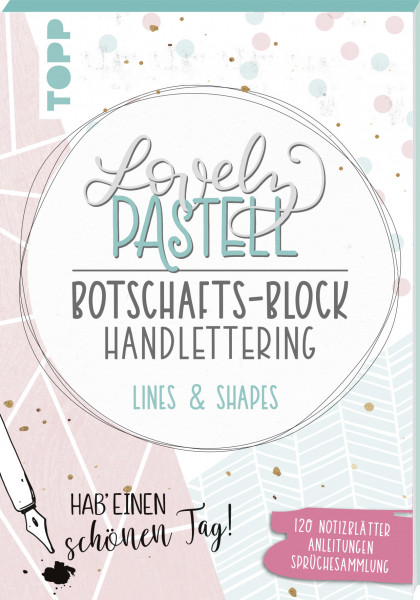 Lovely Pastell Handlettering Botschafts-Block Lines & Shapes, VE=3 Ex.
