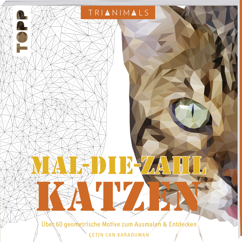Trianimals Mal Die Zahl Katzen Ausmalen Zencolor Topp Kreativde