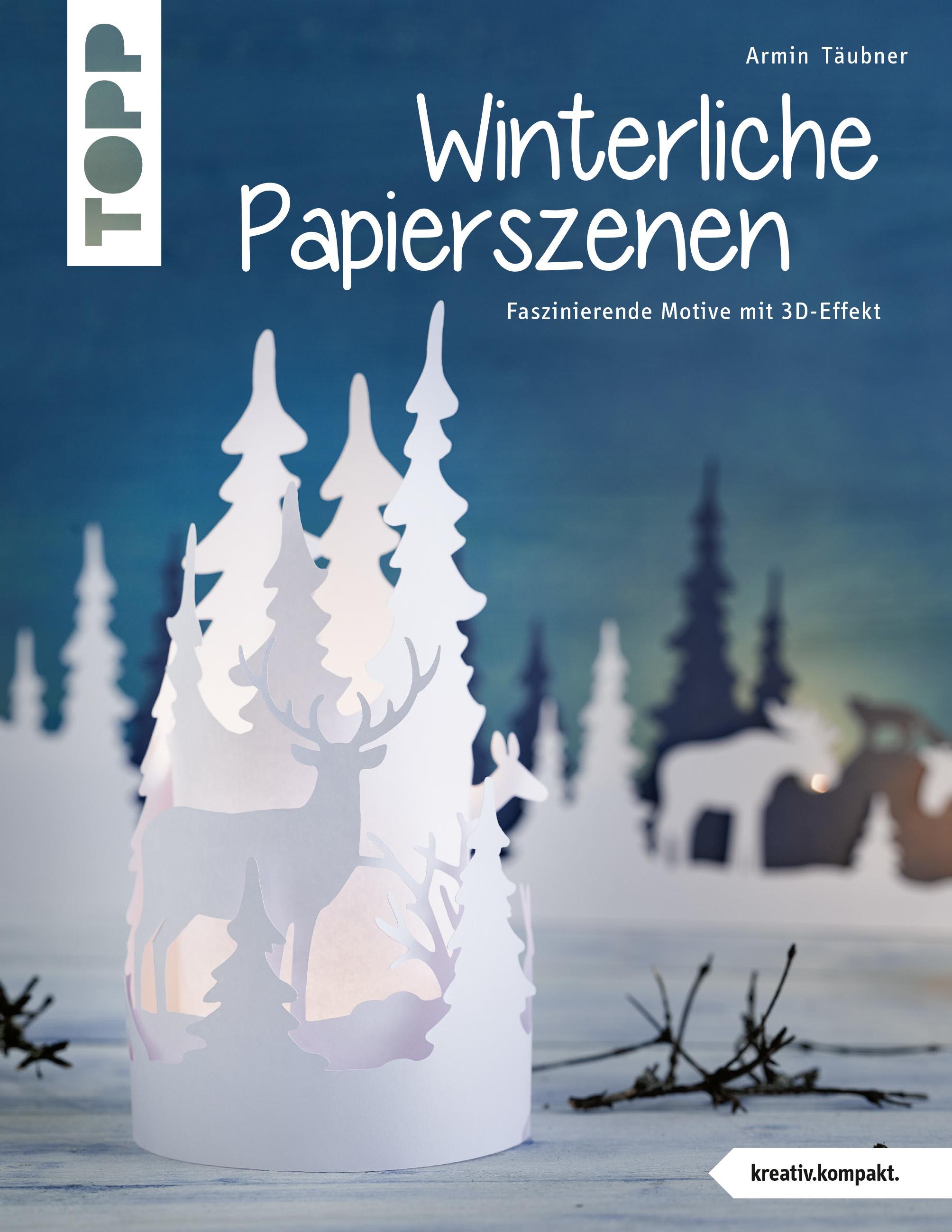 Winterliche Papierszenen Scherenschnitt Weihnachten Winter Krippe