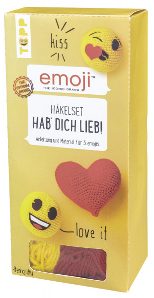 Emoji Häkelset Hab' dich lieb!
