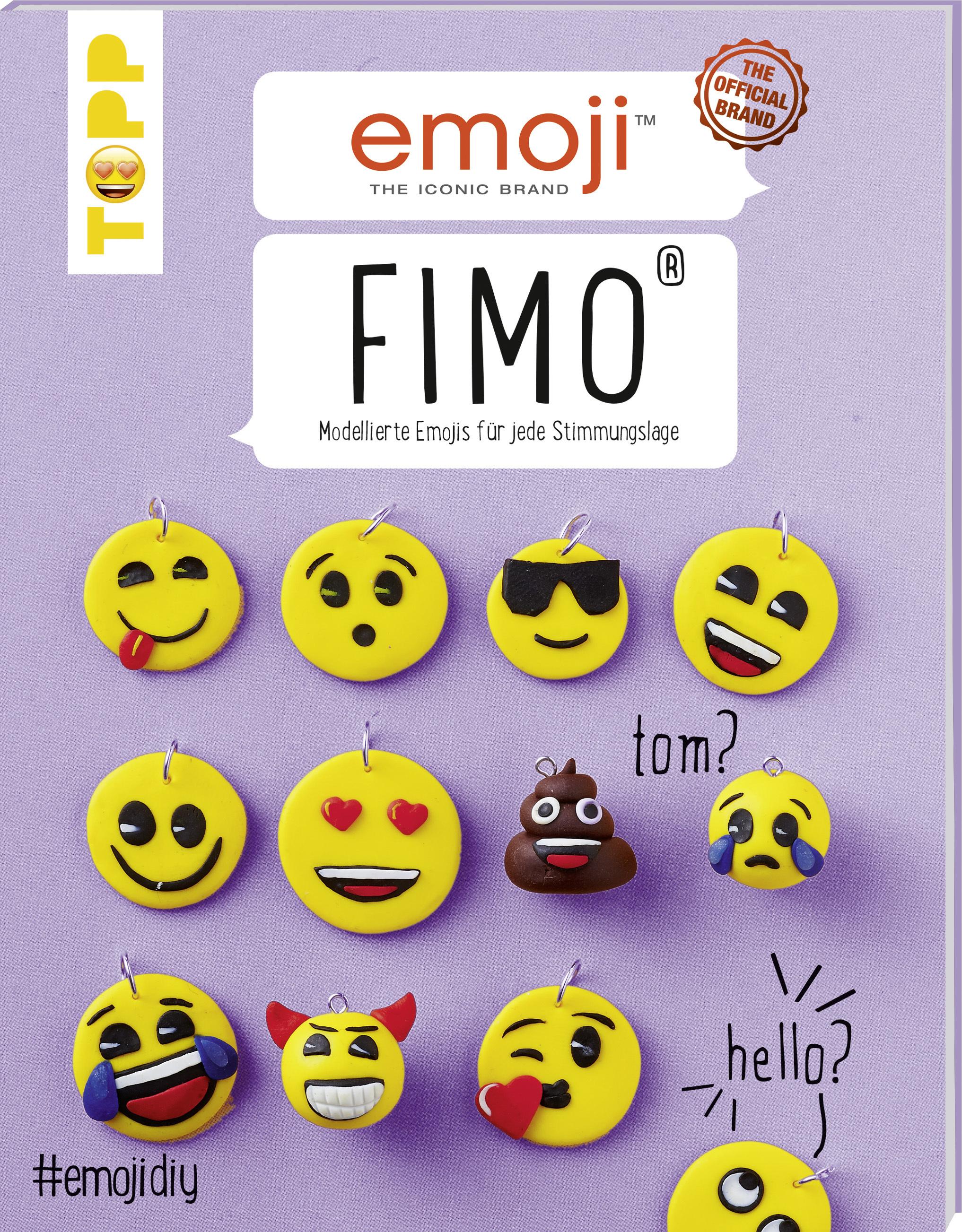 Emoji FIMO: Kette/Schmuck selber machen | Emoji Buch von TOPP