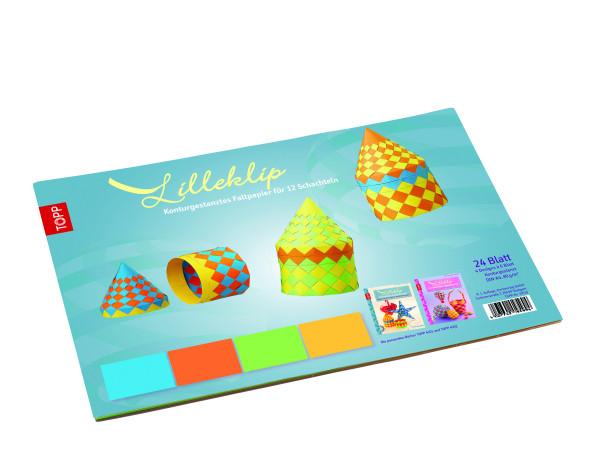 Lilleklip Konturgestanztes Faltpapier für 12 Schachteln
